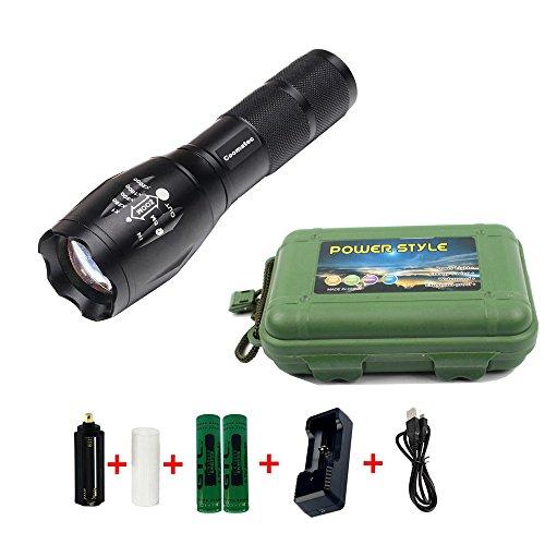 Coomatec SD-100 Kit Ultra starken 900 Lumen LED Taschenlampe Taschenlampe schafft Zoom Flashlight