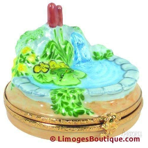 Frog Pond - French Limoges Boxes - Porcelain Figurines Collectible Gifts ()