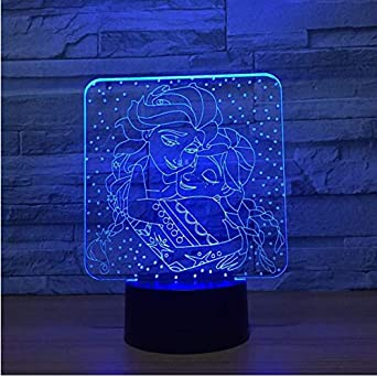 7 3D Color Lámparas Led Para Niños de Frozen Noche Lámpara bgv6yfY7