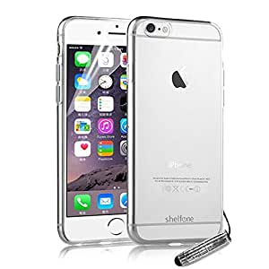 Shelfone ® - WORLD'S THINNEST Premium High Quality And Stylish Protective Ultra Thin 0.3 MM Slim Case Cover For NEW APPLE IPHONE 6 6S PLUS 5.5-inch + Includes FREE STYLUS + FREE SCREEN PROTECTOR (APPLE IPHONE 6 PLUS 5.5-inch, CLEAR), [Importado de UK]