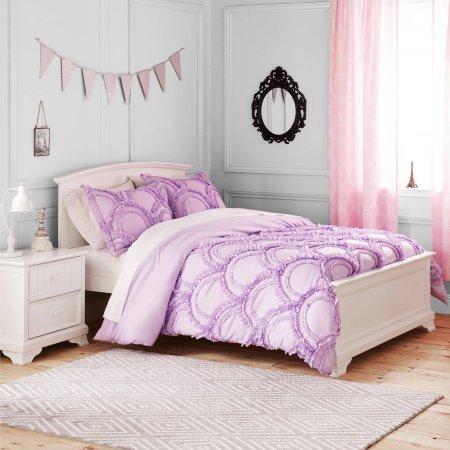 Better Homes and Gardens Kids Comforter Set (Full/Queen Size, Ruffle Fans) (Bedding Queen Ruffle)