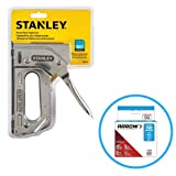 Stanley TR110 Heavy Duty Steel Staple Gun 84 Staple Capacity, Squeeze Trigger And T50 #504 Box of Staples
