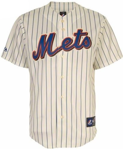 VF New York Mets Majestic Home Pin Stripe Replica Jersey Big and Tall Sizes (4XT)