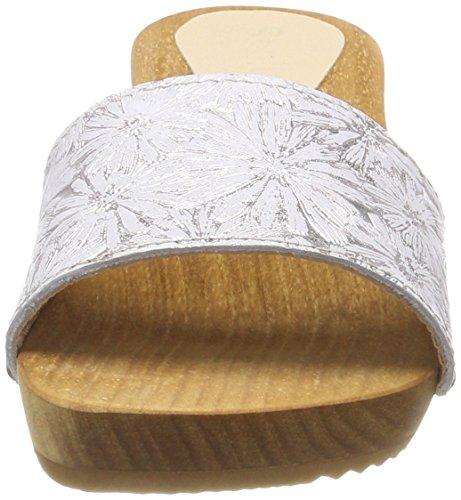 Sandal Bianco Sabot silver Donna Sanita offwhite 11 Pam EwIWa
