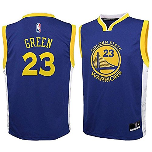 OuterStuff Draymond Green Golden State Warriors NBA Youth Navy Blue Road Replica Jersey (Youth Medium 10-12)
