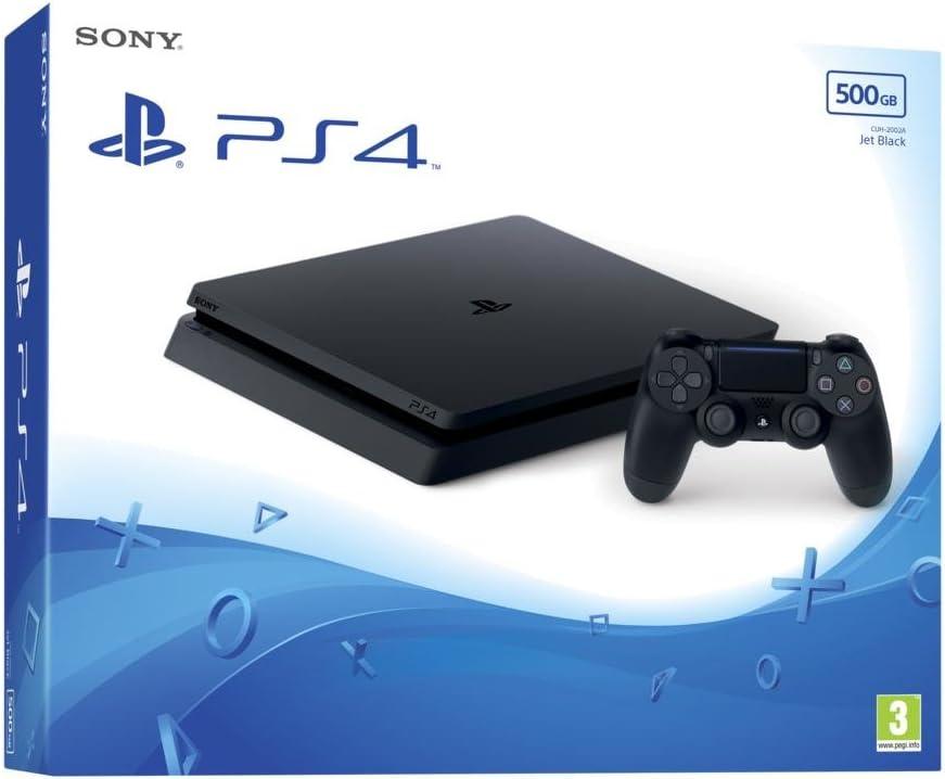 Sony PlayStation 4 Slim 500GB Negro Wifi - Videoconsolas (Importación alemana)