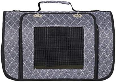 JIANXIN ペットバッグ、ペットキャリア、ペットケージ、ポータブル、肩掛け、旅行に適し、ペットとスーパーマーケット (色 : Gray, サイズ さいず : L l)