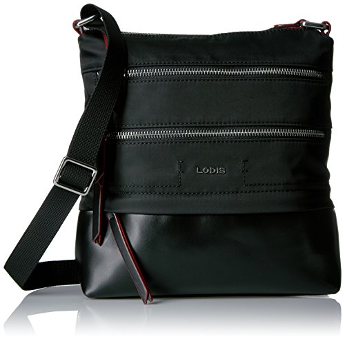 Lodis Kate Nylon Rfid Under Lock and Key Wanda Travel Crossbody, Black by Lodis