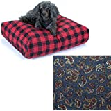 Snoozer Rectangle Pillow Pet Bed Snoozer Rectangle, All Fabric, X-Large, Paisley