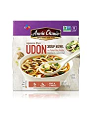 With a delicate Japanese style broth that??s completely vegan, combined with pre-cooked udon noodle and tofu, bok choy, and shiitake mushrooms, this delicious Udon soup will keep you warm and satisfied. Bring home an Annie Chun's Udon Soup Bo...