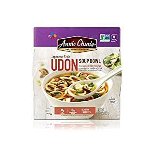 Annie Chun's Udon Soup Noodle Bowl  Non-GMO, Vegan, Shelf-Stable, 5.9-oz (Pack of 6), Japanese-Style Savory Ready Meal