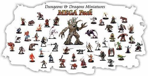 10 Assorted D&D Dungeons and Dragons Miniatures Figures Minis D & D Minis 3524500011PK1