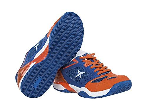 Drop Shot Atomo Tech - Zapatillas deportivas para hombre, color azul / naranja