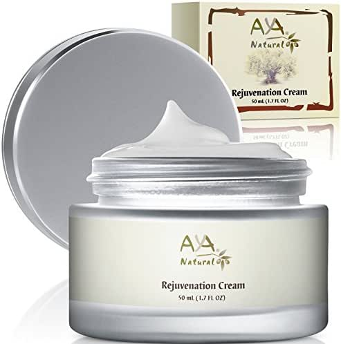 Aya Natural Anti Aging Face Cream - Natural Vegan Smoothing Nourishing Care with Shea Butter, Jojoba, Olive, Almond & Avocado Oils Blend