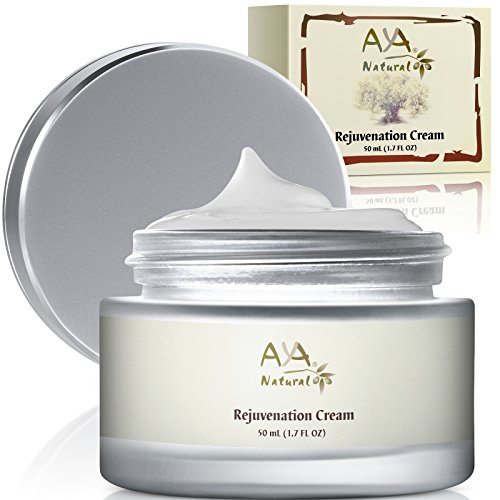 Rejuvenation Aging Cream for Face & Neck - 100% Natural Vegan Premium Deep Nourishing Skin Moisturizer Smoothing Creme 1.7 oz - Shea, Jojoba, Olive, Almond & Avocado Oils Blend (Rejuvenation Day Cream)