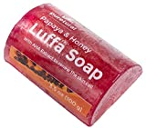#8: Luffa Soap Bar Exfoliant to clean dark spots Body Scrub Soap Whitening Dirt Remover with Natural Papaya and Honey Original by Puretural