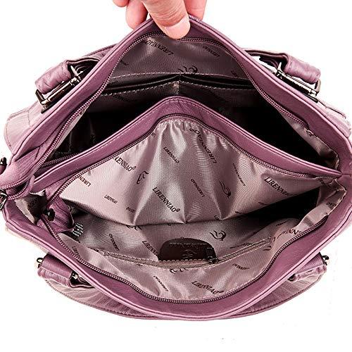 Pink Cerniera Rosso Viola FHGJ Grigio Black Donna PU Per Tote Sacchetti wqxUR6zXU