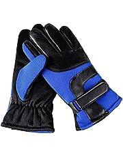 MHYNLMW Calientes del Invierno Guantes de Montar al Aire Libre Guantes de los Hombres y el algodón Antideslizantes Guantes de la Pantalla táctil (Color : Blue)