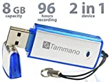 USB Digital Voice Recorder with 8GB Flash Drive- Best For Meetings, Presentations, Taking