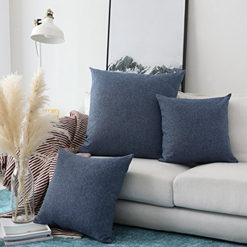 dwelling BRILLIANT Indigo Linen Decorative Throw Pillow Covers