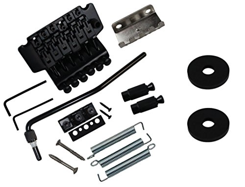 YMC Floyd Rose Guitar Double Tremolo Bridge Assembly System with Locking Nut,whammary (Locking Bridge Studs)