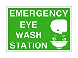 Imprint 360 AS-10034P Plastic (PVC) Workplace Eye Wash Station Sign - 10'' x 7'', Green / White, PROUDLY Made in the USA, Printed with UV Ink for Durability and Fade Resistance