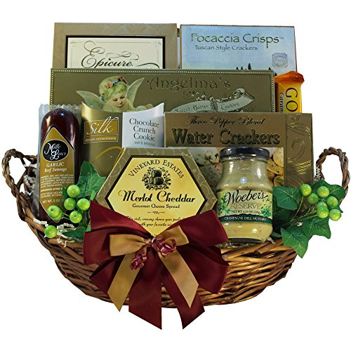 Grand Edition Gourmet Food and Snacks Gift Basket, Medium (Chocolate Option)
