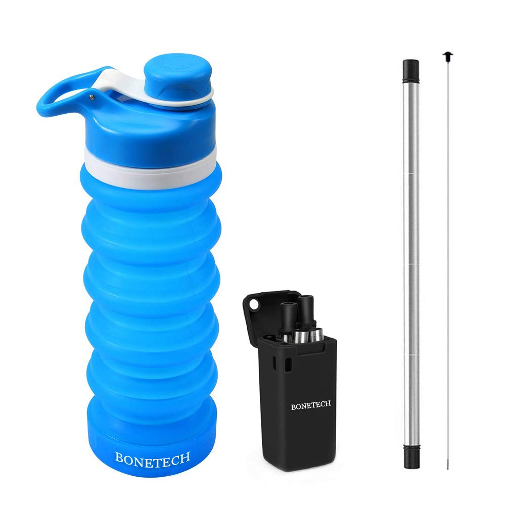 Pack Of 4 Bonetech Collapsible Water Bottle