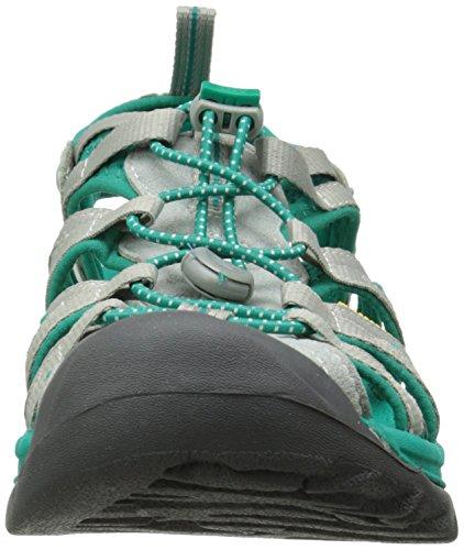 KEEN Damen Whisper Sandale Neutral Grau / Dynastie Grün