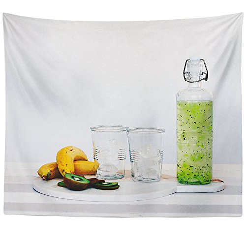 Westlake Art Wall Hanging Tapestry - Kiwi Glass - Photography Home Decor Living Room - (Kiwi Liqueur)