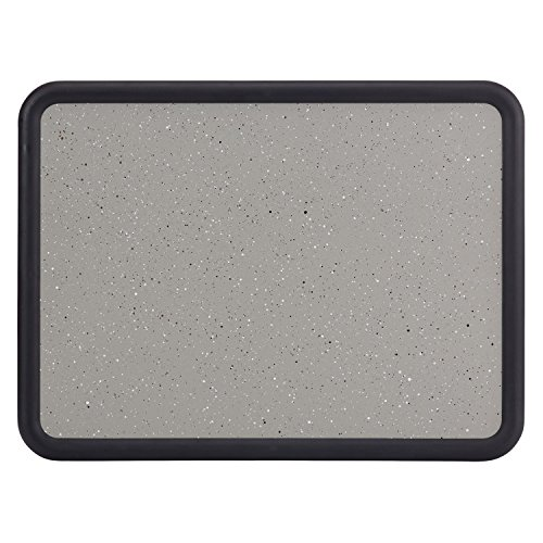 Quartet Contour Bulletin Board, 2 Feet x 1.5 Feet, Granite-Colored Surface with Black Plastic Frame (699365)