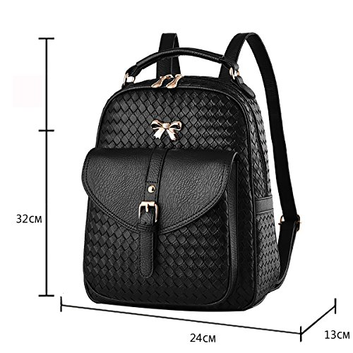 Shoulder Bag Women's Messenger Tisdaini Handbag Woolen Weave Wallets Women's Black Handbag Business Women's Fashion Handbag R0HwzSqxwU
