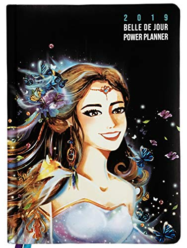 Belle de Jour Power Planner 2019 for Goal and Life - Weekly, Monthly and Yearly Planner - Calendar + Organizer - International Edition - Black, Blue, and Purple