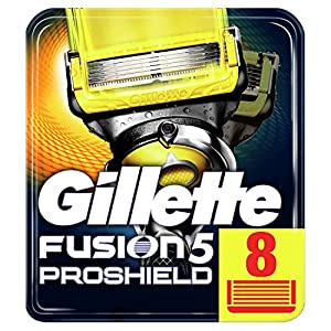 Gillette Fusion 5 Proshield Lames de Rasoir Homme, Pack de 8 Lames de Recharges [OFFICIEL]