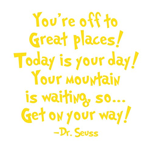 Dr Seuss - Inspirational Wall Decals - These Funny Quote Wall Decals Are Made In The USA For. Dr Seuss Baby Books Motivational Quotes Are Easy To Install And Removable (Welcome To Halloween Party Song)
