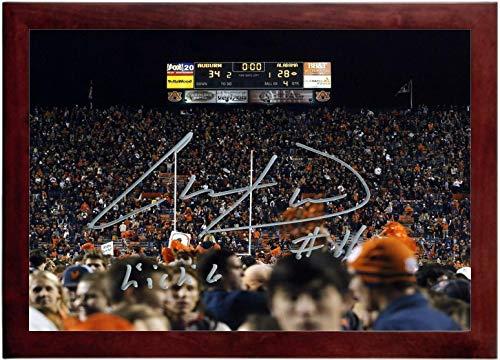Chris Davis Autograph Replica Super Print - Kick 6 Final Scoreboard - Auburn Tigers - Landscape - Framed