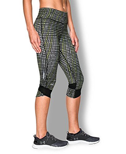 Under Armour Women's UA Printed Fly-By Compression Capri Small Black