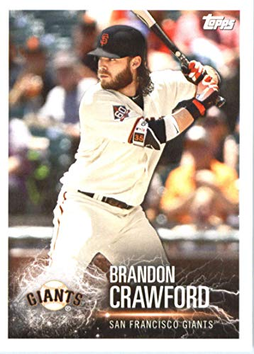 (2019 Topps MLB Stickers Baseball #224 Brandon Crawford/Brandon Belt San Francisco Giants Trading Card Sized Album Sticker with Collectible Card Back)