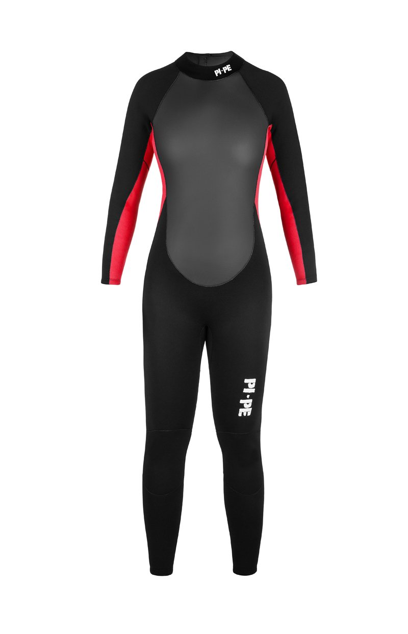 PI-PE Pro Full L S Women s Long Wetsuit - 3mm Sharkskin Body w Extra Pads –  Warm Long Sleeve Wetsuit for Watersport 289284c03