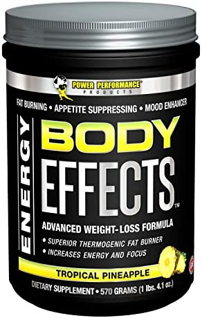 Power Performance Products, Body Effects, Pre Workout Supplement – 570 Grams Tropical Pineapple