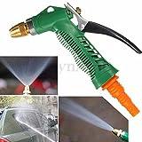 Nozzle High Pressure Water Gun Sprayer Metal Hose Pipe Garden Auto Car Washing