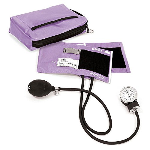 Prestige Medical Premium Aneroid Sphygmomanometer with Carry Case, Wild Orchid