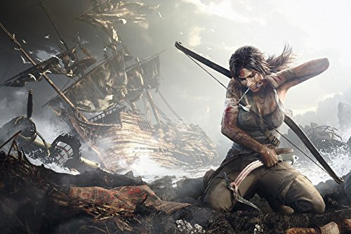 Tomorrow sunny G143 Lara Croft Game Poster Art Wall Pictures for Living Room in Canvas fabric cloth - Croft Doors