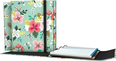 Grafoplás 88211934-Carpeta de anillas troqueladas A4, Diseño Noa, dibujo de flores,