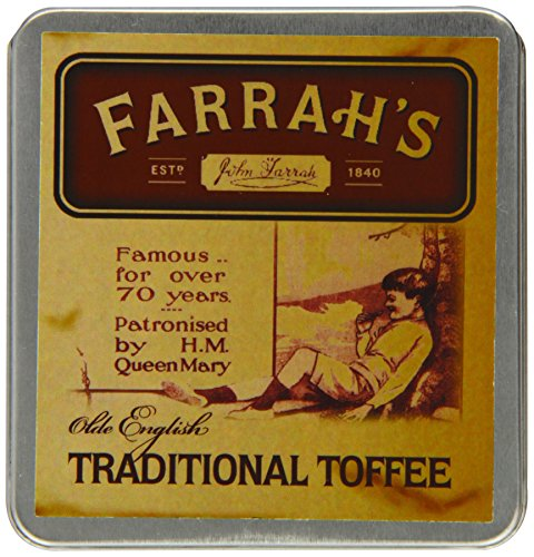 Irish Toffee - Farrah's of Harrogate Toffee - 100g Olde Fashioned 'Traditional' Flat Tin