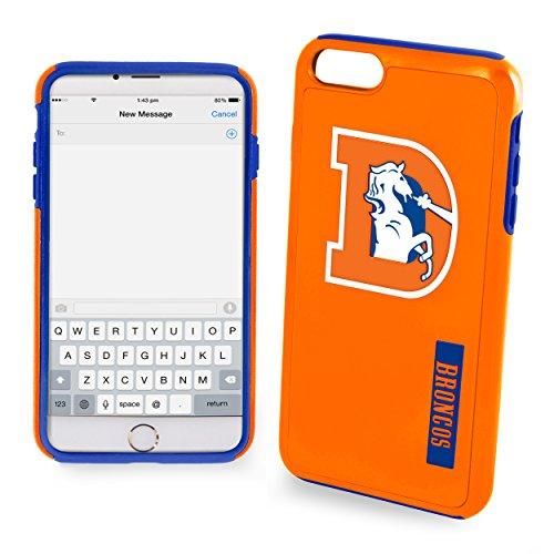 """FOCO Denver Broncos Impact Dual Hybrid Ai7/8 Retro Cover - TPU 4.7"""" screen Only - Orange"""