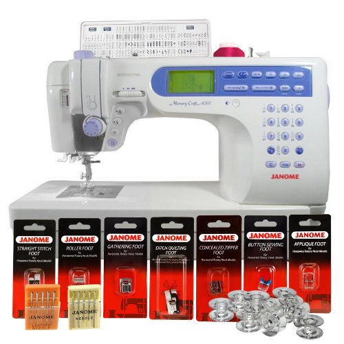 - Janome Memory Craft 6500P / MC6500P Computerized Sewing Machine with Package