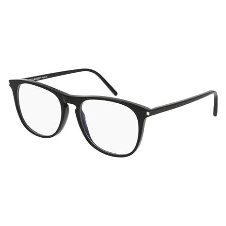 b9b04a32630 Eyeglasses Saint Laurent SL 146-001 BLACK   at Amazon Men s Clothing store