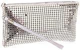 Prezzo 5190 Wristlet,Silver,One Size, Bags Central