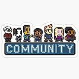WillettaStore 8-Bit Community Stickers (3 Pcs/Pack)